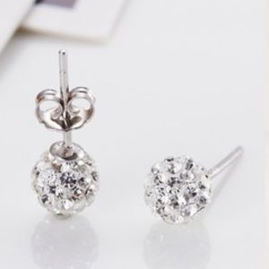 🎁 FREE W/40$+ 💎 Disco ball crystal stud earrings